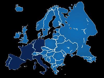 Mapa europeo de Vmark Group